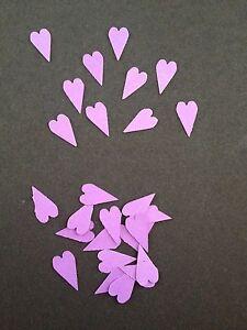 50 small cadburys purple hearts wedding crafts, scrapbooking, table confetti