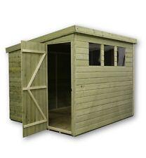 10x4 Garden Shed Shiplap Pent Roof Pressure Treated Door Left End 3 Windows
