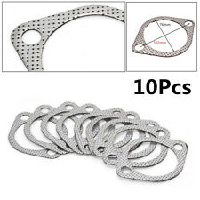 "10PCS Universal 3"" Car Auto SUV Exhaust Decat Pipe Flange Gasket Sliver Durable"