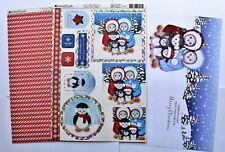Kanban Cute Penguin Christmas Die Cut Foiled Toppers,Card, Insert Kit 54379