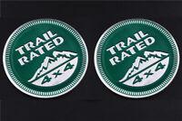 2pcs Trail Rated 4*4 3D Emblem auto aufkleber Badge car Sticker Grün jeep Rated