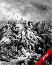 RICHARD THE LIONHEART DEFEATS SALADIN PAINTING 3RD CRUSADE WAR ART CANVASPRINT