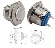 Drucktaster Taster, runder Schalter, Klingelschalter, Metall Druckschalter #132