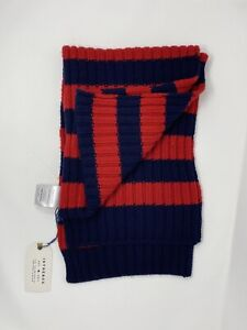 Sciarpa In The Box misto Cashmere scarf Stripe Rugby Blu/red