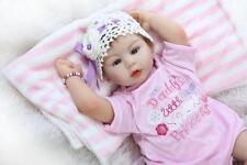 "22"" Handmade Realistic Reborn Baby Girl Newborn Lifelike Vinyl Silicone Doll New"