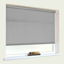 PLAIN  FABRIC ROLLER BLINDS - STRAIGHT EDGE  - UP TO 240cm WIDTH  & MANY COLOURS