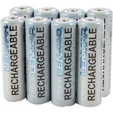 LENMAR PRO827 AA NiMH PRO Batteries (8 pk), 2700 mAh,Ideal for high-drain device