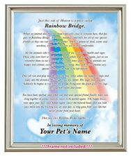 picture relating to Rainbow Bridge Poem for Dogs Printable named Rainbow Bridge Poem for sale eBay