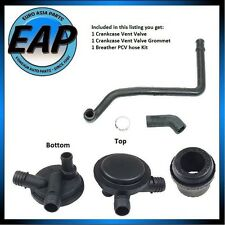 For VW Cabrio Passat Breather Vacuum PCV Vent Valve w/Grommet and Hose Kit NEW