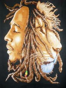 Bob Marley Flag Art Throw Lion Face Throw Wall Art Tapestry Poster Decorative