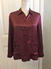 New Madewell Silk Oversized Pajama Shirt Tiny Dusty Burgundy Sz Xxs H3955