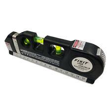 New Multipurpose Laser Level Horizon Vertical Measuring Tape 8FT Aligner Ruler