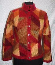Talbots Petites S Jersey Cárdigan Mohair mezcla suave Otoño Colores Multicolor