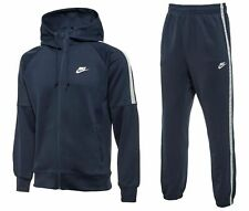 NIKE TRIBUTE MENS FULL HOODED TRACKSUIT NAVY BLUE FULL ZIP HOODY