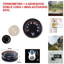 MINI TERMOMETRO ANALÓGICO + CUATRO ADHESIVOS DOBLE CARA + IMAN AUTOADHESIVO
