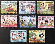 ANTIGUA DISNEY CHRISTMAS STAMPS SET 8V 1986 MNH DISNEY BABIES SNOWMAN PLUTO