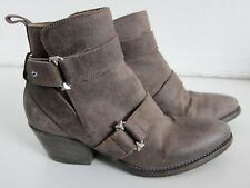 0fe15b983fd Sartore Paris Made In Italy Grey Leather Studded Buckle Ankle Boot 35.5 5.5