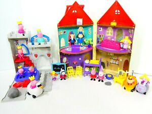 Ben And Holly Little Kingdom Large Lot Castle playset & Peppa Pig Castle Jazware