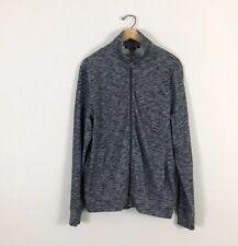 Michael Kors mens large Full Zip Sweater Jacket Blue