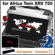2x Adesivi Bianco Rosso Grigio compatibile Honda Africa Twin XRV 750 ADVENTURE
