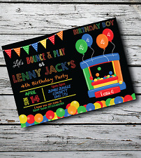 10 Personalised Kids Bouncy Castle Boy Girl Birthday Party Invitations Invites