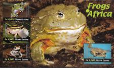 "SIERRA LEONE - 2011 MNH ""Fauna - FROGS Of AFRICA"" Souvenir Sheet (II) !!"