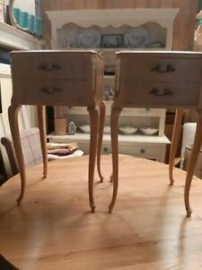 French Style Pair Of Bedside Tables Or Cabinets