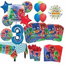 PJ Masks 3rd Birthday Party Supplies 8 Guest Kit