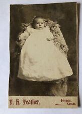 Cabinet Card Photo Infant Baby Glen Leroy Spaulding Solomon KS Antique