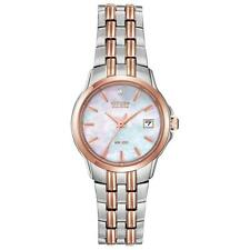 Citizen Eco-Drive Women's EW1546-58D Diamond Accent Two Tone 26mm Bracelet Watch