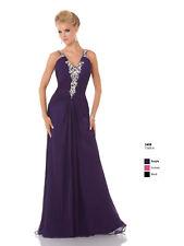 Mystique Prom Dress 3408 Purple Size 6 NWT