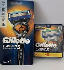 Gillette Fusion Proglide Power 8 Lamette + Rasoio. Sigillati E Originali