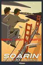 Vintage Disney ( Soarin' Over California ) Collector's Poster Print - B2G1F