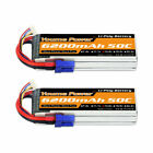 2pcs 14.8V 4S 6200mAh LiPO Battery EC5 for RC Truck Car Quad Helicopter Drone