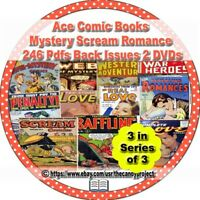 Ace Comics Books 3 DVD 246 pdfs Scream Fiction 3rd in Series of 3 Mystery