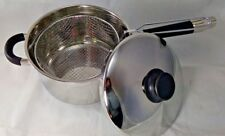 Good Quality STAINLESS STEEL INDUCTION DEEP CHIP PAN FRYER POT WITH LID & BASKET