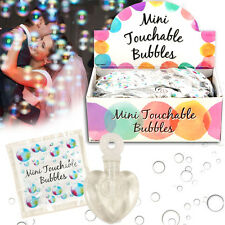 48 MINI TOUCHABLE BUBBLES HEARTS PARTY BAG WEDDING FAVOURS GIFT TABLE DECORATION