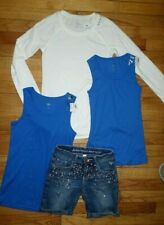 Justice Girls Size 14,10,8  (Lot Of 4) Tops & Denim Jeans