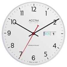 Acctim DateTime Wall Clock 28cm White - 22222