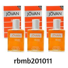 3 X Jovan Musk By Coty Men 8.0 Oz / 236 ml After Shave Cologne Splash New In Box