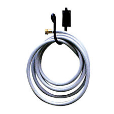 """Wrought Iron Black Wall Mount HD Garden Hose Holder 8"""" Tall Holds 100' of Hose"""