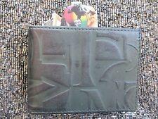 NEW* VOLCOM WALLET ID BIFOLD Black Green $45 Retail Typo SLIM LEATHER