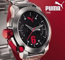 PUMA Pu103781004 Advance Chronograph Herrenuhr Edelstahl Silber