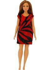 Short Dress made for Curvy Barbie Fashionista Doll Clothes TKCT Lilac stripe