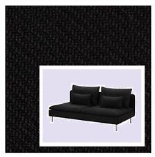 IKEA Soderhamn 3-Seat Sofa Cover Replosa Black NEW Textural RARE Sealed LOW BACK