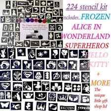 GLITTER TATTOO KIT 224 boys girls seasonal midi mini stencils glitters UK made