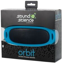 Sound Science Orbit Wireless Bluetooth Speaker System w/MP3 Player, Blue