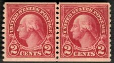 1923 US Stamps Washington 🏛️Scott #599  2c Pair  MNH OG