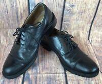 Johnston & Murphy Shoes Derby Tabor Cap Toe Leather Black 20-1861 Men's 9.5M