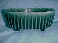 Hull pre-1950 Green Ribbed Oval Planter F39